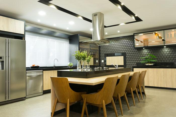 5 Cozinha com Carbone Deluxe Decortiles por Grafite Estúdio de Arquitetura