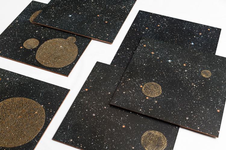 revestimentos com estrelas e planetas coleção órbita decortiles