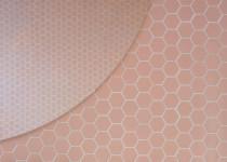 pastilha hexagonal rosa sixties decortiles banheiro pugliesi