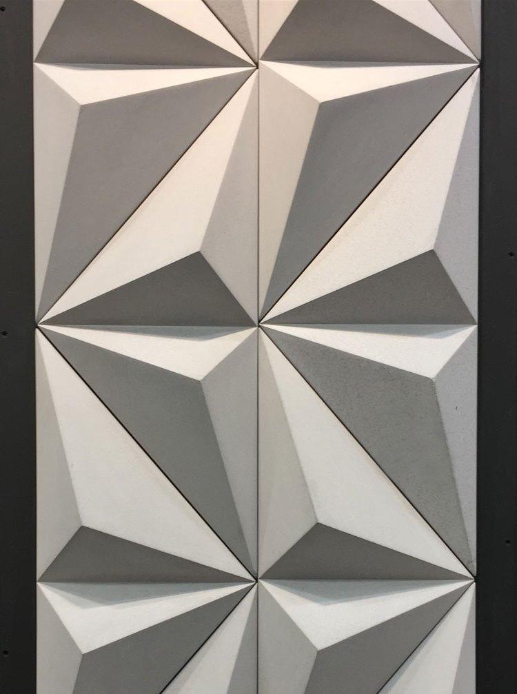 revestimento decortiles cimentício feito a mão triângulo 2 lançamento 2018