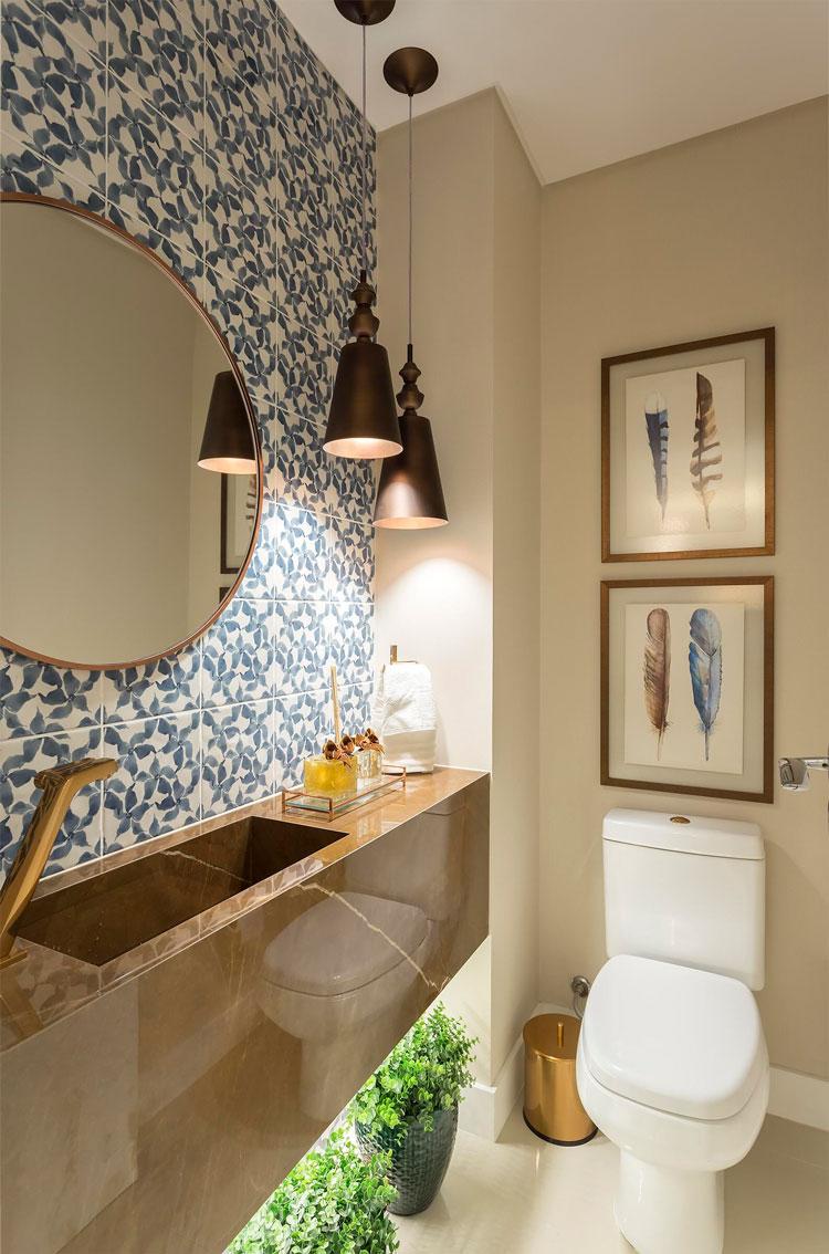 bancada de porcelanato sem emenda revestimento Bronzo 120x240cm da Decortiles - Projeto Villa-Arquitetura