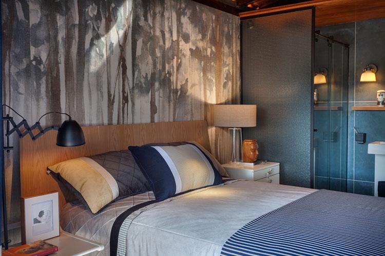 ideia de cabeceira de cama com porcelanato craft woods decortiles