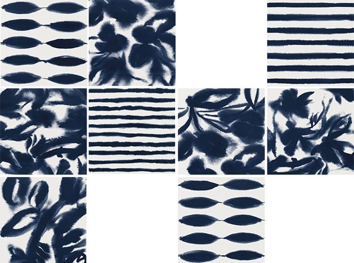 azulejo decorado azul decortiles