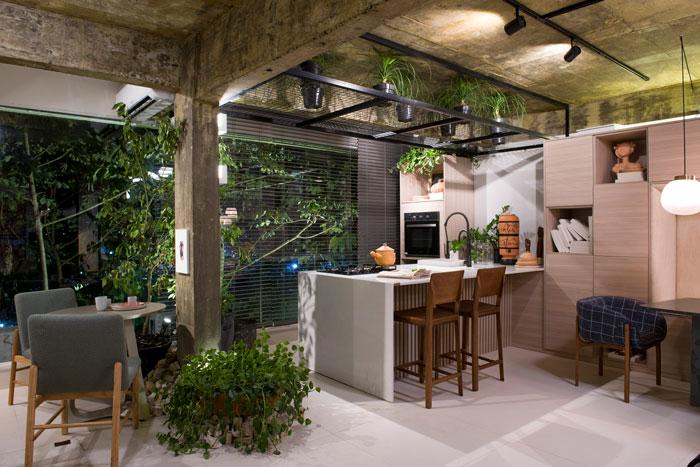 loftcom cozinha gourmey revestido com porcelanato downtown argento decortiles