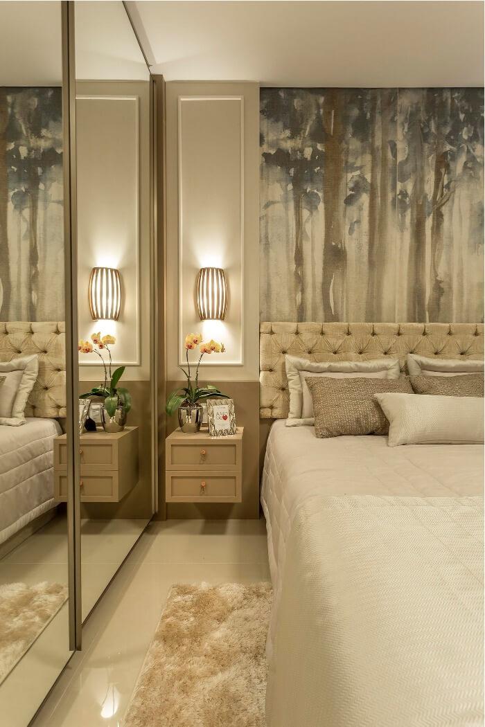 3 porcelanato craft woods decortiles usado na cabeceira do quarto projetado por villa arquitetura