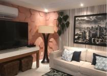5 Revestimento rosa cimentício hexagonal Hexágono Rose Gold Decortiles - Projeto Giovanna Barbosa