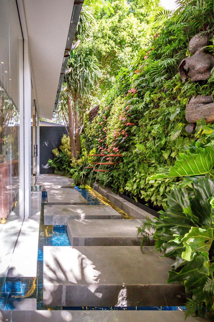 Jardim vertical Loft Acuático da Casa Cor Bolívia 2019 por Alejandra Iriarte e Natalia Murillo