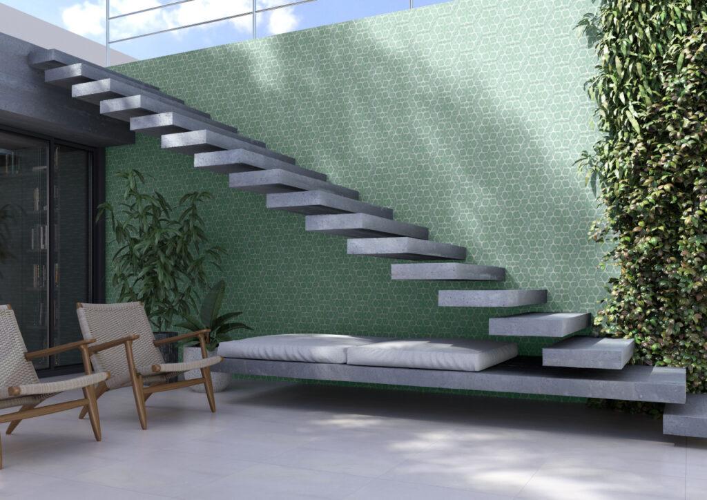 Escada de porcelanato